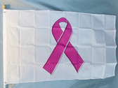PINK RIBBON 3X5' S-POLY FLAG