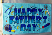 HAPPY FATHER'S DAY 3X5' S-POLY FLAG