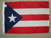 "PUERTO RICO  NYLON FLAGS 12X18"" TO 10x15'"