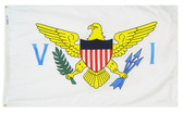 "VIRGIN ISLANDS NYLON FLAGS 12X18"" TO 10X15'"