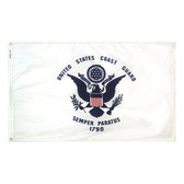 "US COAST GUARD NYLON FLAGS 12X18"" TO 8x12'"