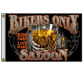 NEW BIKERS ONLY SALOON 3X5' POLY FLAG