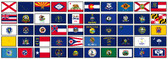 50 US STATES COMPLETE SET OF S-POLY FLAGS 2X3' TO 3X5'