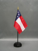 """CONFEDERATE 1ST NATIONAL 4X6"""" TABLE TOP FLAG"""