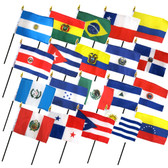 "20 LATIN AMERICA 4X6"" TABLE TOP FLAGS ONLY SET"