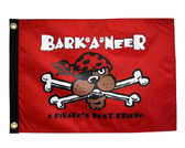 "BARK A NEER PIRATES BEST FRIEND 12X18"" BOAT FLAG"
