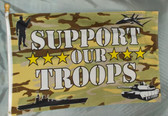 SUPPORT OUR TROOPS CAMO 3X5' S-POLY FLAG
