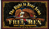 2nd AMENDMENT THE RIGHT TO BEAR ARMS EAGLE 3X5' POLY FLAG