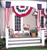 COLONIAL STYLE POLYCOTTON PULL DOWN FLAGS 20IN X 8FT TO 20IN X 12FT