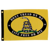 "LIVE FREE OR DIE DON'T TREAD ON ME 12X18"" BOAT FLAG"