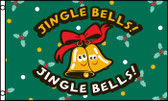 JINGLE BELLS 3X5' S-POLY FLAG