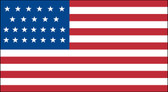 25 STAR US 3X5' NYLON FLAG 1836-1837