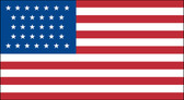 32 STAR US 3X5' NYLON FLAG 1858-1859