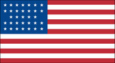 33 STAR US 3X5' NYLON FLAG 1859-1861