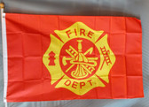 FIRE DEPARTMENT 3X5' S-POLY FLAG