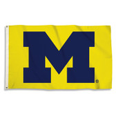 U OF M YELLOW 3X5' PRINTED FLAG
