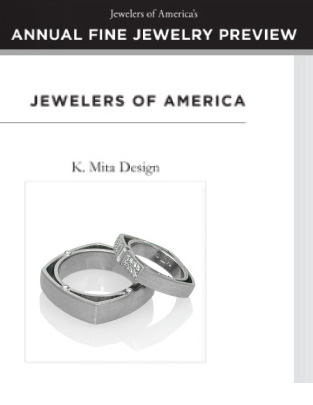 Keiko Mita's Square Wedding Bands from K.Mita Design | Jewelers of America Annual Fine Jewelry Preview