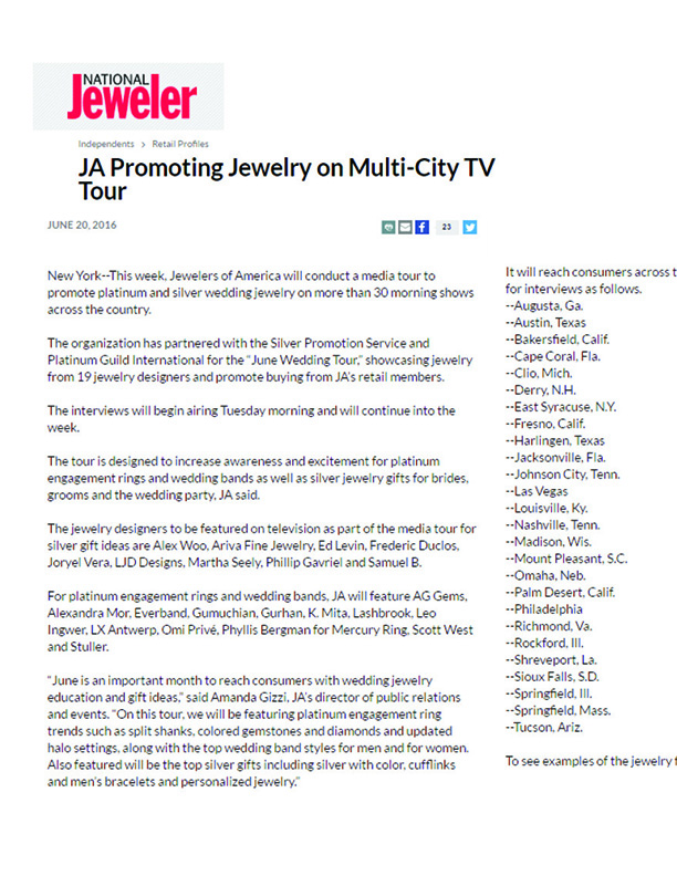 Keiko Mita's Platinum Engagement Ring from K.Mita Design | JA Television Promotion