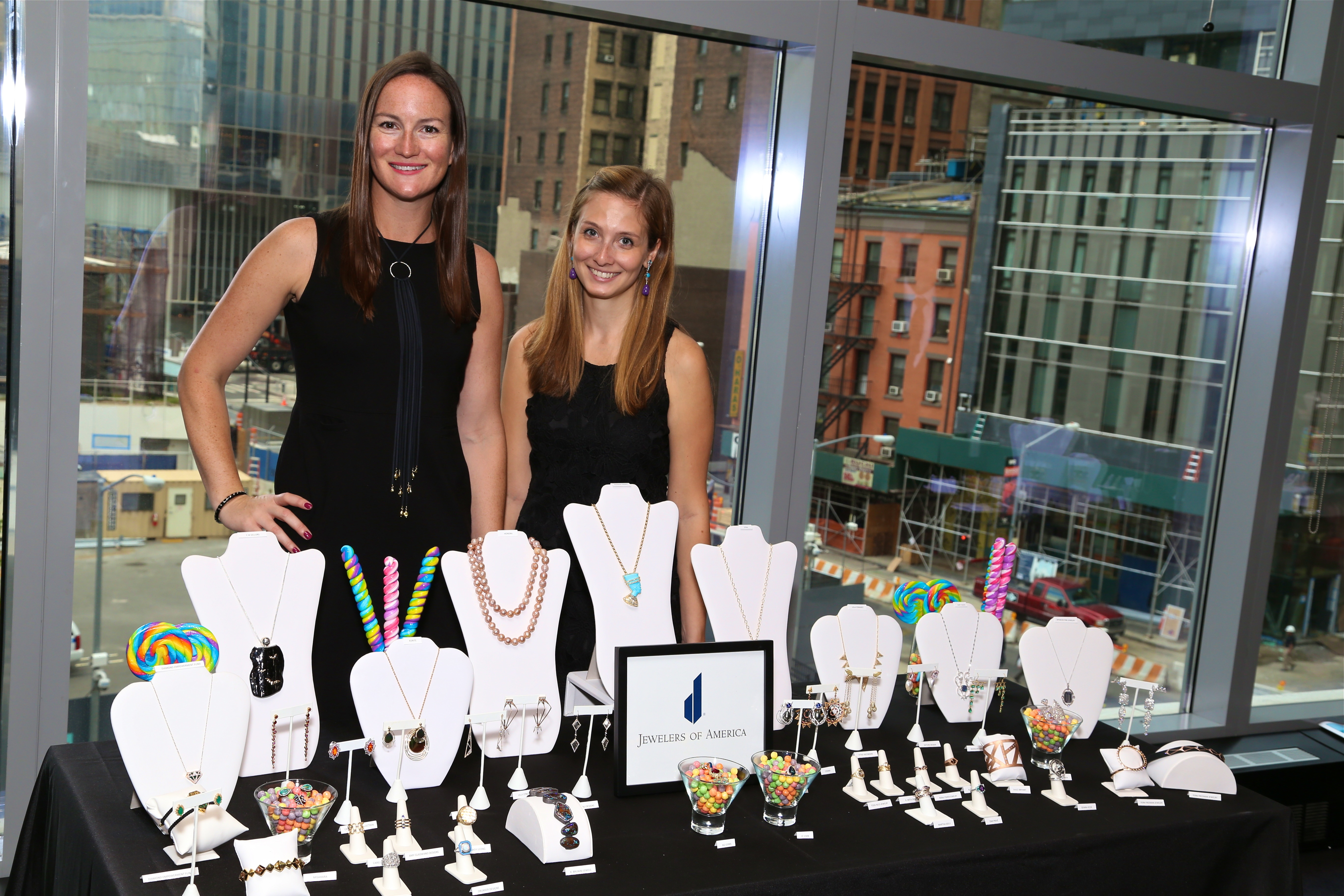 Amanda Gizzi and Lauren Kalma of Jewelers of America with 2016 Editor Preview Collection