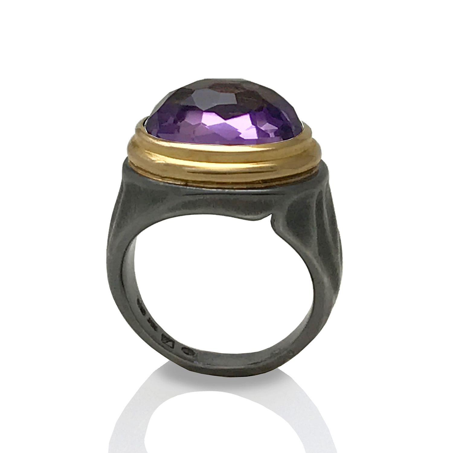 Amethyst Gem Lock Ring by K.Mita