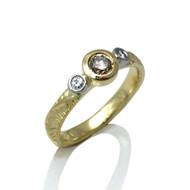 Three Stone Ring from Keiko Mita's Sand Dune Collection