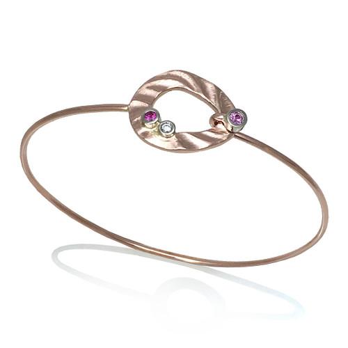 Pebble Bracelet, Modern Art Jewelry by K.Mita