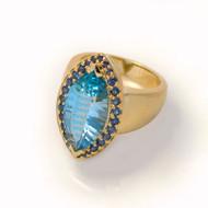 Keiko Mita's Blue Topaz Ring | Blue Topaz | Handmade Designer Jewelry