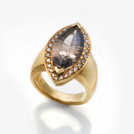 Keiko Mita's Smoky Quartz Ring | Smoky Quartz | Handmade Designer Jewelry