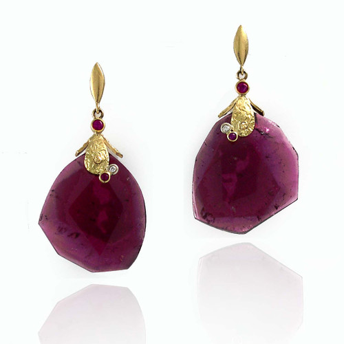 K.Mita's Large Pink Tourmaline Earrings | Contemporary Jewelry