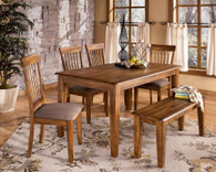 Bench dining room table set
