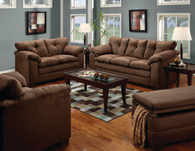 Simmons Luna Chocolate Living Room Set