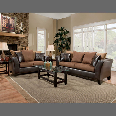 ... Jefferson Chocolate 7 pc Living Room Package - Masters Buy or Lease