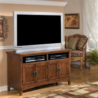 Ashley Cross Island 50 Inch Oak TV Stand