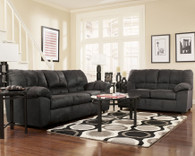 Ashley Dominator Black Sofa Set