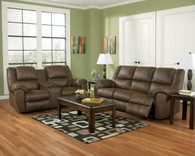 Ashley Quarterback – Canyon Reclining Sofa Set