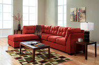 Ashley Maier Red Sofa Set