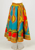 Authentic African Fabric Print Skirt