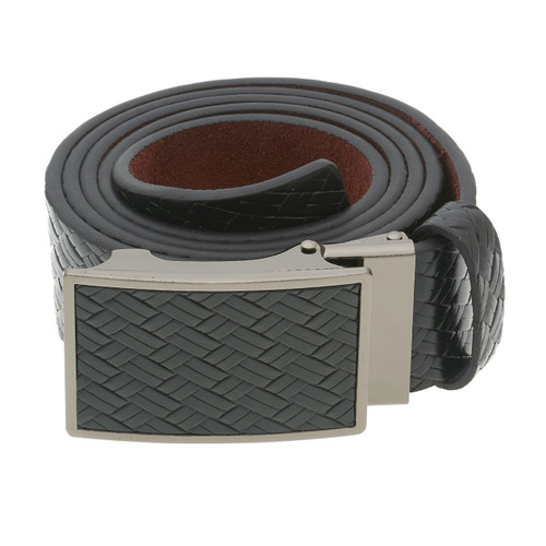 RS&A CROSS & CROWN MEN'S 100% LEATHER BELT #:05C112