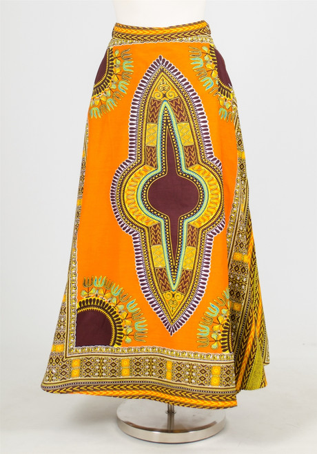African Ethnic Wrap Skirt