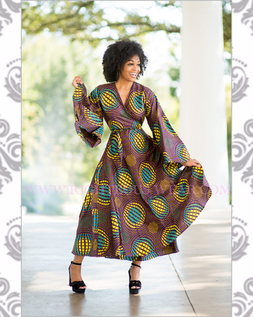 African Authentic Ethnic Wrap Dress