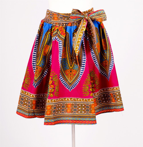 Authentic African Multi Print Elastic Skirt