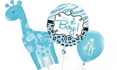 Pink Wild Safari Baby Shower Balloons · Blue Wild Safari Baby Balloons ...