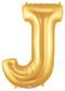"40"" Megaloon Letter J Gold Balloon"