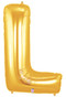 """40"""" Megaloon Letter L Gold Balloon"""