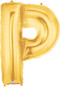 """40"""" Megaloon Letter P Gold Balloon"""
