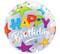 """22"""" Bubble Birthday Brilliant Stars"""