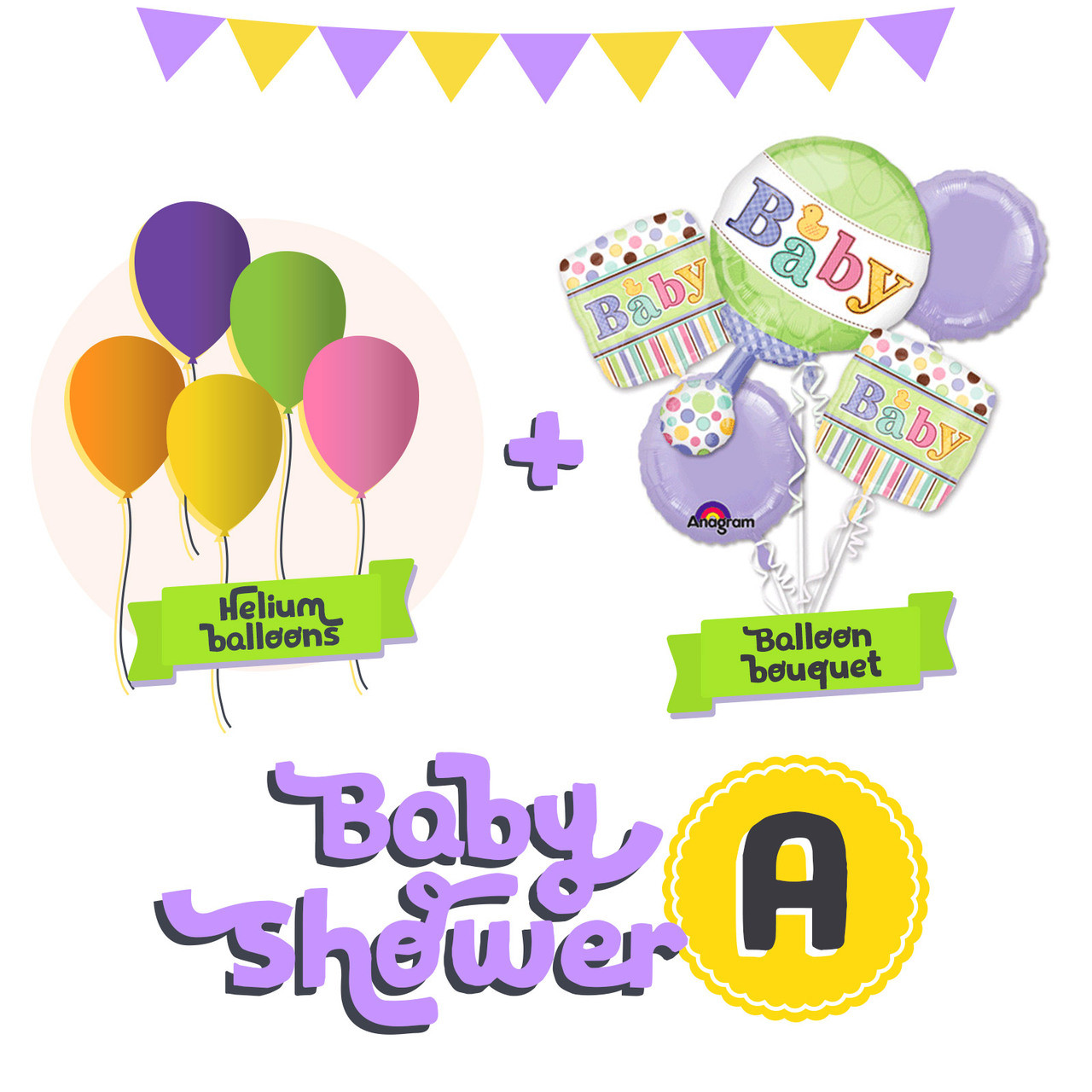... Baby Shower Balloon Package A. Image 1