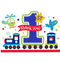All Aboard 1st Birthday Die-Cut Postcard Thank You Cards