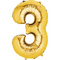 "35"" Decorator Number 3 Balloon - Gold P50"