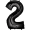 "35"" Decorator Number 2 Balloon - Black P50"